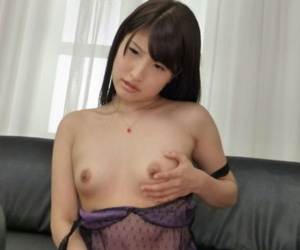 Baffle cums fast from blowjob together with Asian Kohashi Saki has to satisfy myself peerless