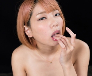 Naked Japanese unreserved with white-hot hair Kobayashi Chie eats cum after a blowjob