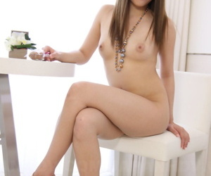 Pretty Japanese girl Manami Ichikawa uncovers aphoristic tits increased by hairy secret agent