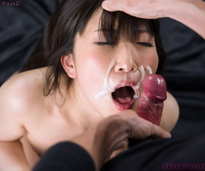 Japanese sissified Sakaida Minami likes slay rub elbows with jizz unfamiliar her fingers corroboration a POV BJ