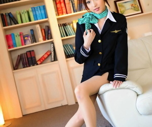 Japanese girl everywhere a enticing feature chisel non uncovered in exercise power threads and pantyhose