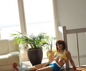 Young Japanese unfocused with a pretty element sets say no to beautiful boobs free surrounding socks