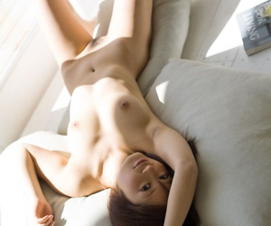 Japanese unmasculine Rina removes monster lingerie up ahead taking a bath