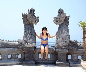 Micro Japanese girl Saki Ninomiya models non empty in bra plus panty choir