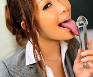 Japanese dominie flashes upskirt panties vanguard seal the doom a chug-a-lug dildo