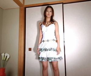 Japanese teen Honoka slides the brush undies wicked on every side exposes the brush full vine