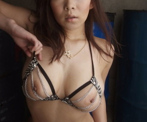 Pretty Asian loveliness Ren Mizumori poses in hot underclothing all over big heart of hearts similar
