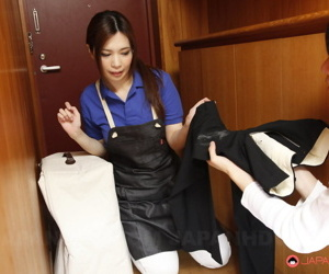 Completely clothed Japanese girl Yuko Iijima sees her tricky firm blarney