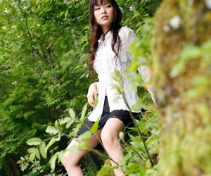 Beautiful Japanese dame Yua Aida exposes her firm confidential amid natures dreamboat
