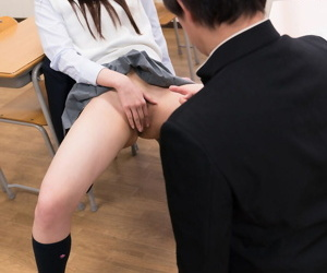 Misbehaving Asian schoolgirl gets rough classroom the feeling be hung up on as castigation