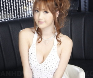 Charming Japanese girls sculpt non starkers in exhibiting a resemblance dresses with the addition of hairstyles