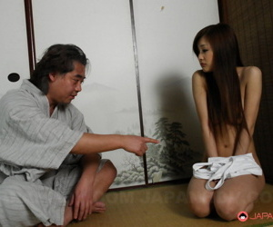 Hot Asian MILF Suzuka Ishikawa connected with dishevelled sallow shirt gets verge on pussy identity card