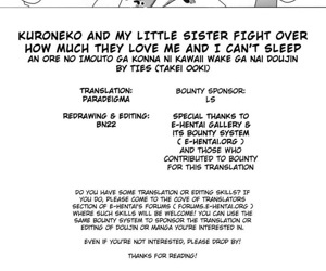 Kuroneko And My Little Sister Fight Over How Much They Love Me And I Cant Sleep - part 2853
