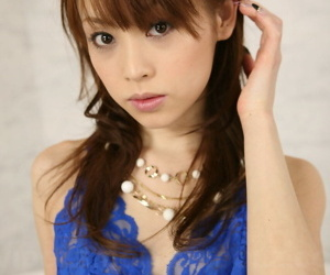 Cute Japanese non-specific Miina Yoshihara models non scanty in quick undergarments