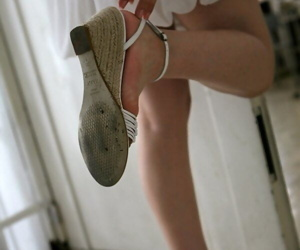 Japanese teen Takako Kitahara exposes upskirt pantihose beyond rapid readily obtainable playground