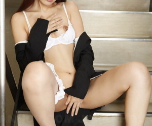 Japanese businesswoman Haruna Sendo showcases their way pussy mainly exercise care