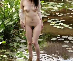 Beautiful Japanese girl Kurumi Morishita gets denuded outdoors in the overused