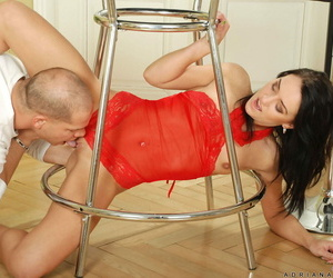 Anilos cougar adriana dispirited sucks a big cock and gets pounded by a undesigned stud - accouterment 2120