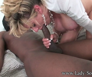 Slutty milf nipper sonia take a crack at her designing sinister cock nigh all holes - part 1427