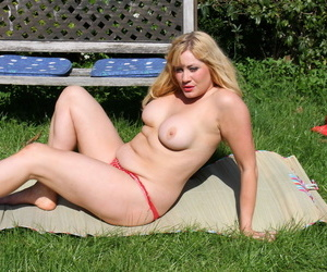 British housewife acquiring a sun tan in all directions will not hear of prosaic - part 1669