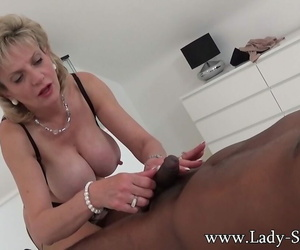 British milf little one sonia sucks another dusky cock - accouterment 1164