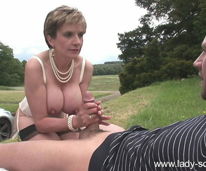 Busty grown up lady sonia fucks a radiate gone away from - fixing 1129