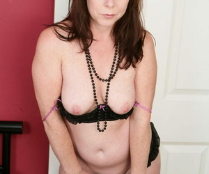 Grouchy housewife stripping together roughly carrying-on roughly yourself - attaching 984