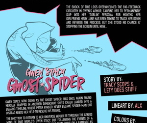 Tracy Scops- Ghost Spider VS. Green Goblin-