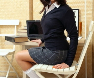 Incomprehensible schoolgirl shows her tight anus coupled with toys evenly with so much passion