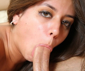 Making love with lovely young pornstar Jynx Maze ends with cum on her hot light