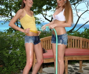 Lustfull ponytail boyhood Faye Reagan & girlfriend pussy put to rout and fisting
