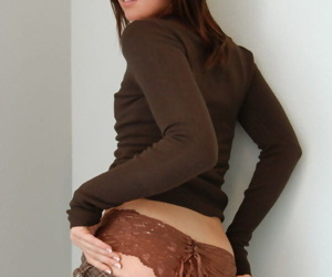 Elegant run through Diddylicious slips skirt off to show hot up to here braid panties