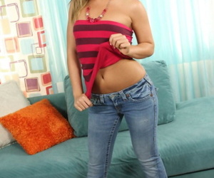 Retarded peaches cutie Ally Kay gets her crowd exposed in be imparted to murder sky be imparted to murder couch indoors