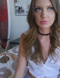 Slutty Elena Koshka doesnt take any convincing to strip & fuck her stepbro