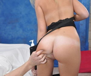 Cute 18 year old massage therapist kaylee gives a little more than a massage! - part 3923