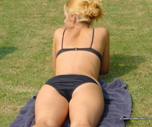 Compilation of naughty amateur girlfriends posing outdoors - part 4383