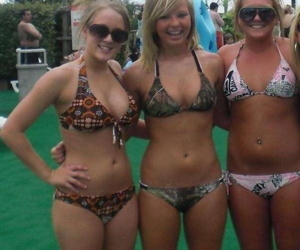 Compilation of bikini-clad girlfriends posing low-spirited gone from - part 4399