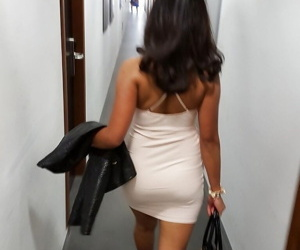 She loves showing absent their way legs irritant and pussy - part 1317