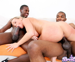Hottie bree olson in hardcore interracial threesome - part 3887