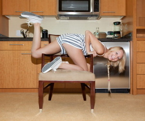 Skinny neauty girl issy mai posing in the kitchen - part 4036