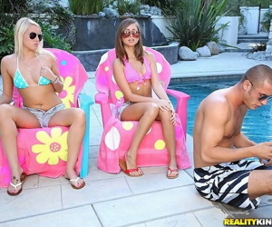 Pure 18 teens fucked both take pool trio sexual connection - loyalty 392