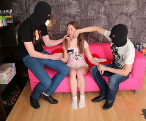 Cute teen jazzy sara getting anal fucked by two masked thieves - part 3938