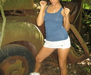 Hot teen strips in the woods - part 3894