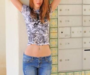 Redhead lacie enjoys burnish apply sunshine - accouterment 1190