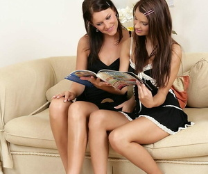 Sweetmeat brunettes at a loss for words together with use strapon - part 1516