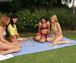 Three clits obtain licked upon wettish open-air orgy - decoration 3784
