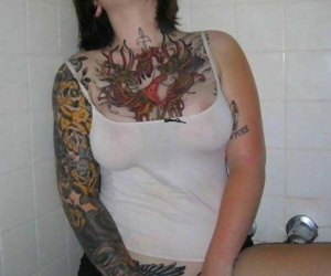 Pictures be expeditious for chapter babes akin gone their tats and piercings - fastening 3430