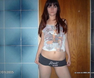 Compilation of two naughty emo chicks posing topless - part 4085