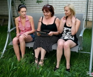 Lesbian mature seducing teens jennifer b coupled with lana mart outside - fixing 3689