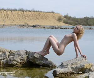 Slim blonde in the lake - part 4773